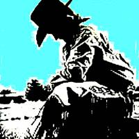Cowboy Prayer Art Prints & Posters by Dave Gafford