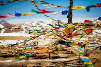 Buddhist Prayer flags in Tibet