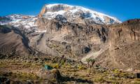 Kilimanjaro summit from Barranco Camp