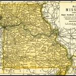 """Missouri Antique Map 1891"" by WilshireImages"