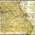 """Missouri Antique Map 1891"" by WilshireImages"