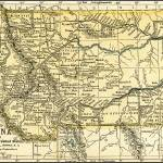 """Montana Antique Map 1891"" by WilshireImages"