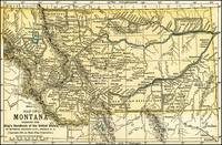 Montana Antique Map 1891