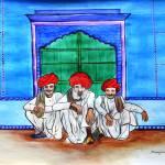 """rajasthani men Vishranti"" by mkanvinde"