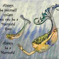 Mermaid Art Art Prints & Posters by whitey gilroy