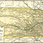 """Nebraska Antique Map 1891"" by WilshireImages"