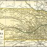 """""""Nebraska Antique Map 1891"""" by WilshireImages"""