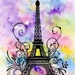 """Eiffel Tower"" by k9artgallery"