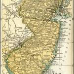 """New Jersey Antique Map 1891"" by WilshireImages"