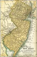 New Jersey Antique Map 1891