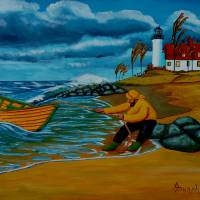 Ashore At Last Art Prints & Posters by Anthony Dunphy
