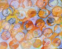 Multicolor Eroded Circle Abstract