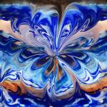 """Gorgeous Abstract Flower In Blue"" by IrinaSztukowski"