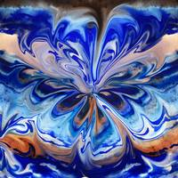 Gorgeous Abstract Flower In Blue