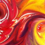 """Hot Yellow And Red Abstract Flames"" by IrinaSztukowski"