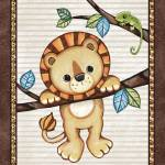 """Lion in a Tree. Treetop Jungle Buddies Collection"" by Littlepig"