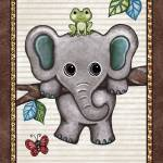 """Swinging Elephant. Treetop Jungle Buddies Collecti"" by Littlepig"