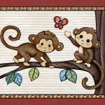 """Monkey Friends. Treetop Jungle Buddies Collection"" by Littlepig"