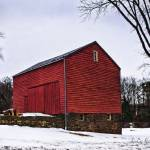 """Barn in Snow 2"" by LouiseReeves"