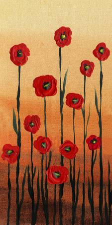 Red Poppies Decor