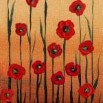"""Poppy Flowers Decorative Painting"" by IrinaSztukowski"