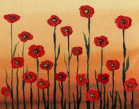 Landscape With Red Poppies Painting