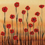 """Red Poppies Abstract Painting Decor"" by IrinaSztukowski"