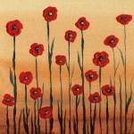 """Red Poppies Abstract Painting Decor"" by IrinaSztukowski"