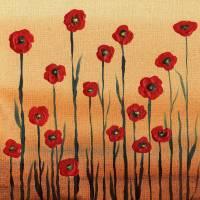 Red Poppies Abstract Painting Decor Art Prints & Posters by Irina Sztukowski
