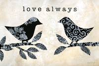 Black and White Love Always Birds