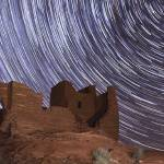 """Night Sky Over Wukoki Pueblo, Wupatki National Mon"" by LBrummPhotography"