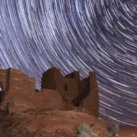 Night Sky Over Wukoki Pueblo, Wupatki National Mon Art Prints & Posters by Logan Brumm