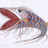 shark fish Art Prints & Posters by federico cortese
