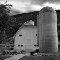 Osguthorpe Barn with Two Silos