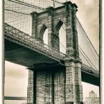 """Brooklyn Bridge Sepia"" by JessicaJenney"