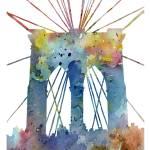 """brooklyn bridge blue"" by k9artgallery"