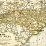 """North Carolina Antique Map 1891"" by WilshireImages"