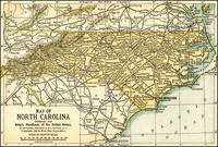 North Carolina Antique Map 1891