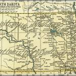 """North Dakota Antique Map 1891"" by WilshireImages"