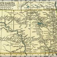 North Dakota Antique Map 1891 Art Prints & Posters by Phil Cardamone