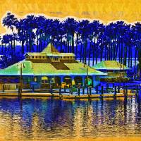 Sunrise At The Boat Dock Art Prints & Posters by Kirt Tisdale