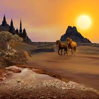 Dream Landscape with Horses