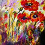 """Red Poppies and Bees Provence Dreams"" by GinetteCallaway"
