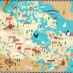 """Map of Canada by Nate Padavick"" by TheyDrawandCook"