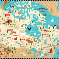 Map of Canada by Nate Padavick Art Prints & Posters by They Draw & Cook & Travel
