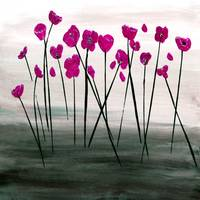 Expressive Floral Pink Poppy Field 724