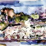 """Amalfi Panorama Italy Travel Art"" by GinetteCallaway"