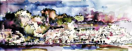Amalfi Panorama Italy Travel Art
