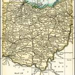 """Ohio Antique Map 1891"" by WilshireImages"