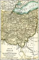 Ohio Antique Map 1891